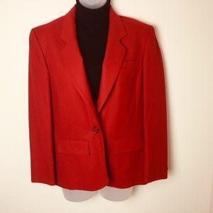 Vintage Pendleton 100% Virgin Wool Red Blazer